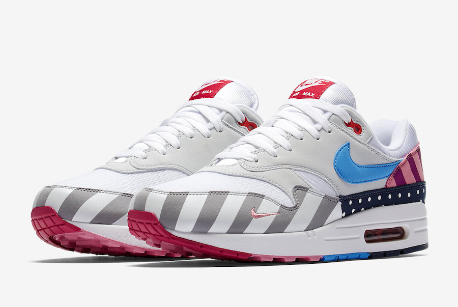 Parra x Nike Air Max 1 White-Pure Platinum AT3057-100 On VaporMaxRunning