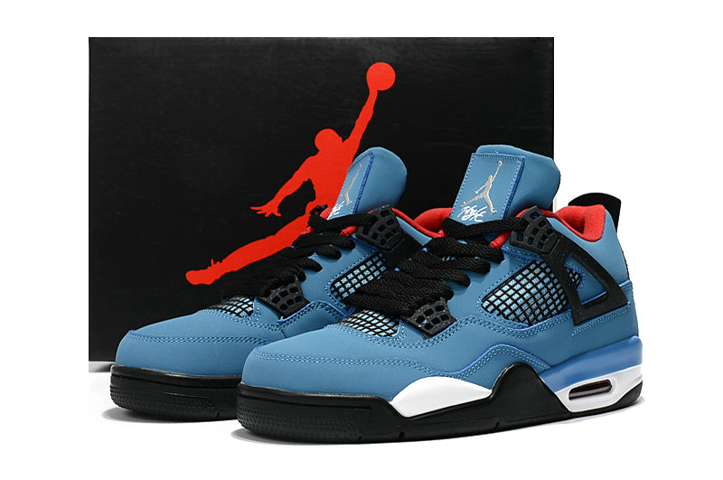 Scott x Air Jordan 4 Blue Black Cheapest Sale On VaporMaxRunning