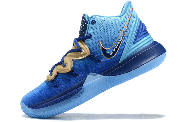 Where To Buy Shop 2019 Concepts x Nike Kyrie 5 Blue Gradient Metallic Gold Shoes On VaporMaxRunning