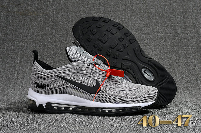buy popular c5379 48577 Undefeated x Nike Air Max 97 Grey Black White Cheap Air Max ...