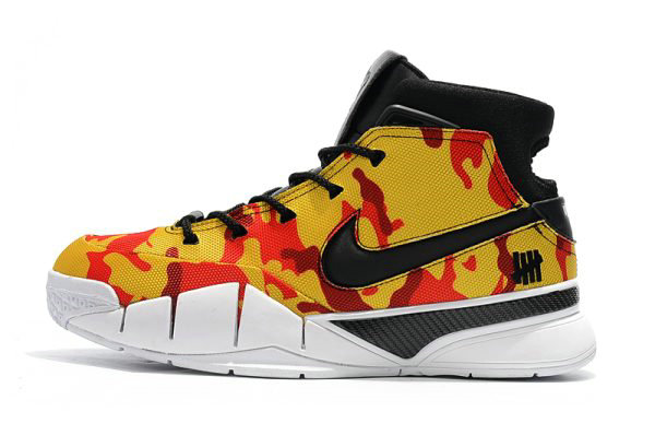 Cheap Undefeated x Nike Zoom Kobe 1 Protro Yellow Camo Mens Shoes Free Shipping On VaporMaxRunning