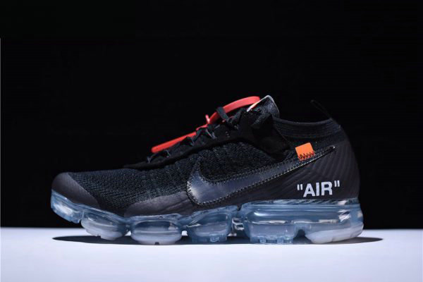 Cheap Virgil Ablohs New Off-White x Nike Air VaporMax Black Total Crimson-Clear AA3831-002 On VaporMaxRunning