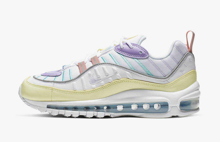 Where To Buy 2019 Womens Cheap Nike Air Max 98 Luminous Green white Ah6799-300 On VaporMaxRunning