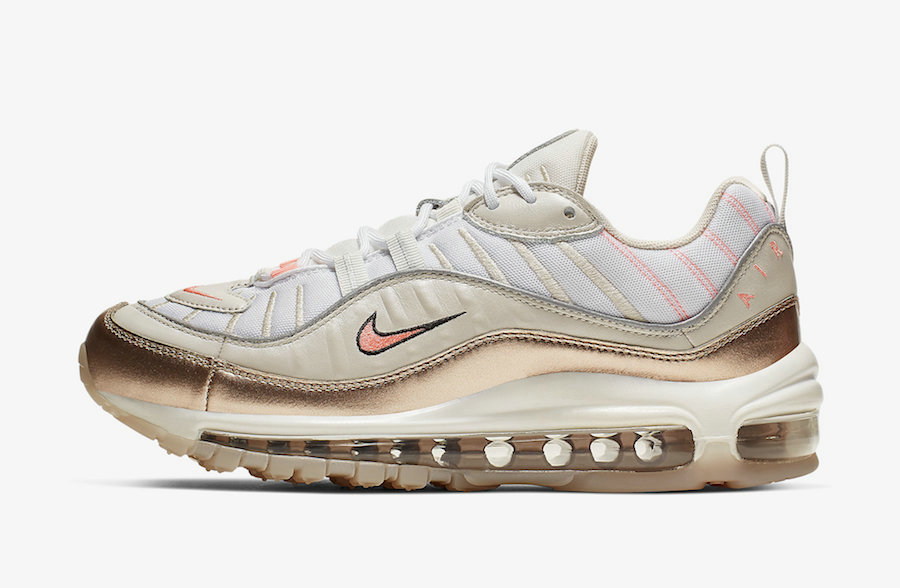 Where To Buy 2019 Womens Cheap Nike Air Max 98 Orewood Brown Lava Glow-White CI9907-100 On VaporMaxRunning