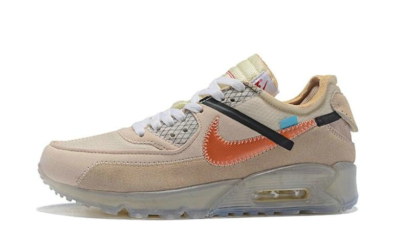 Where To Buy 2019 Womens Cheap Off White X Nike Air Max 90 Desert Ore OW AA7293-105 On VaporMaxRunning