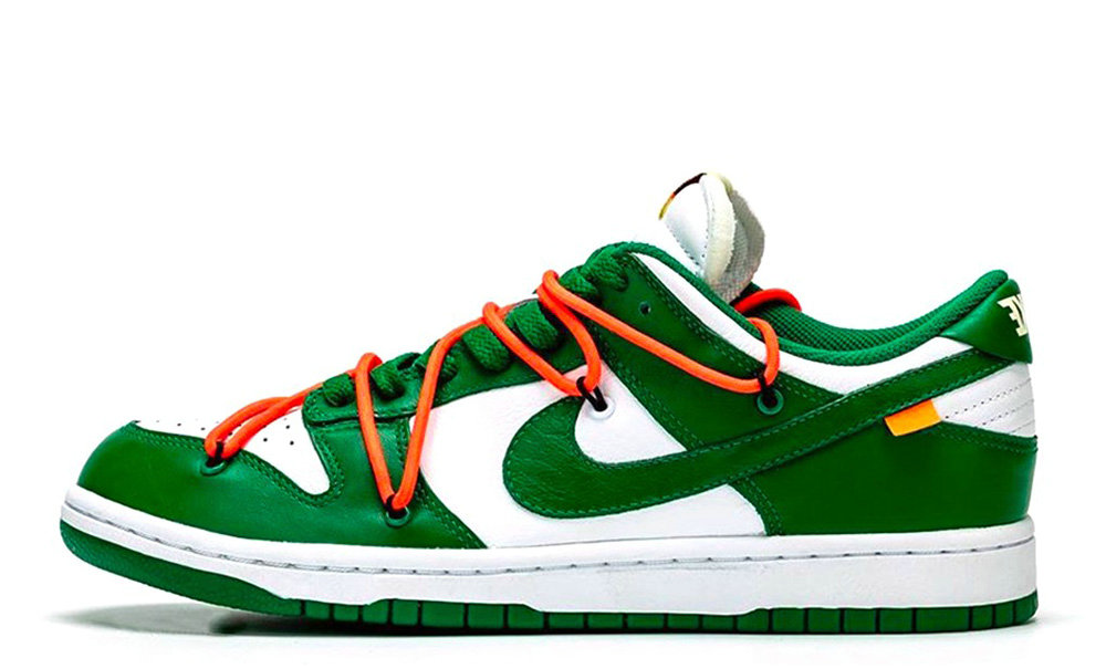 Where To Buy 2019 Womens Cheap Off-White x Nike Dunk Low Pine Green CT0856-100 On VaporMaxRunning