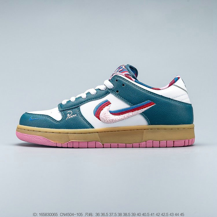 Where To Buy 2019 Womens Cheap Parra x Nike SB Dunk Low White Dark Green-Red CN4504-105 On VaporMaxRunning