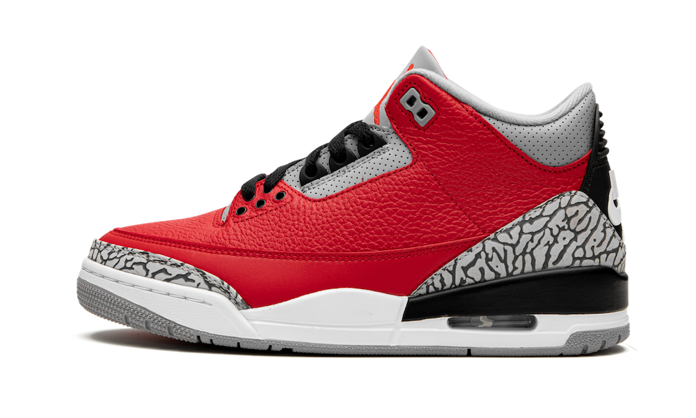 Where To Buy 2020 Cheap Nike Air Jordan 3 Red Cement On VaporMaxRunning