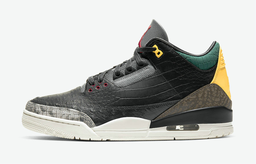 Where To Buy 2020 Cheap Nike Air Jordan 3 SE Animal Instinct Black Dark Mocha-Rope-Multi-Color CK4344-002 On VaporMaxRunning