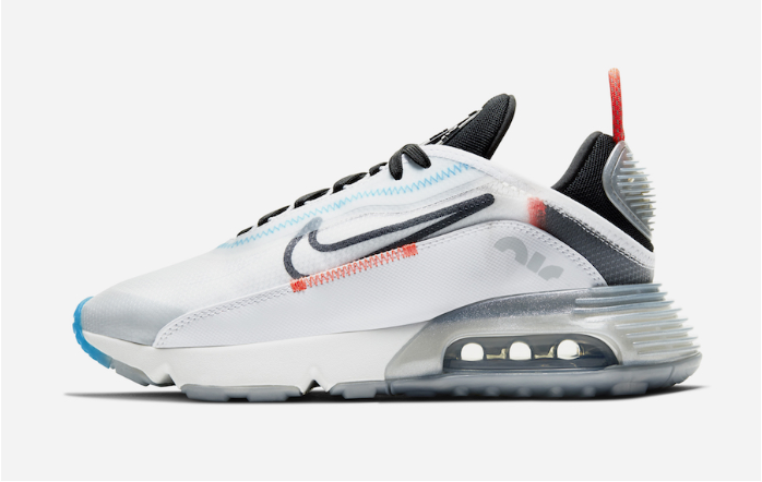 Where To Buy 2020 Cheap Nike Air Max 2090 White Pure Platinum Bright Crimson Black On VaporMaxRunning