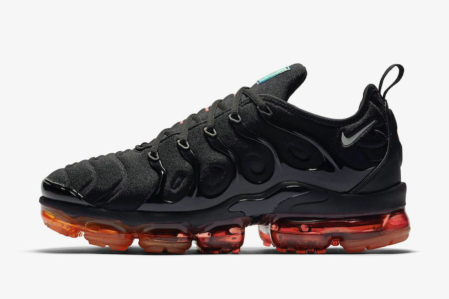 Where To Buy 2020 Cheap Nike Air VaporMax Plus Black Red Orange CV1645-001 On VaporMaxRunning