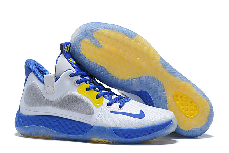 Where To Buy 2020 Cheap Nike KD Trey 5 White Blue Yellow Grey On VaporMaxRunning