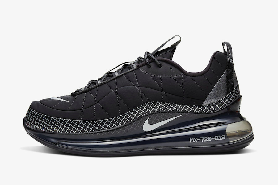 Where To Buy 2020 Mens Cheap Nike Air MX 720-818 Black-Black-Cool Grey CI3871-001 On VaporMaxRunning