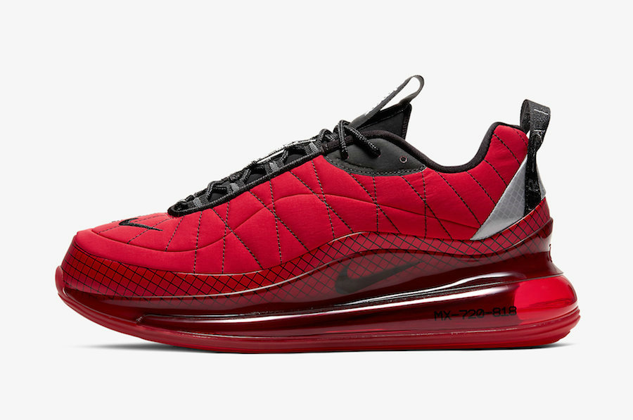 Where To Buy 2020 Mens Cheap Nike Air MX 720-818 University Red Black-Reflect Silver CI3871-600 On VaporMaxRunning