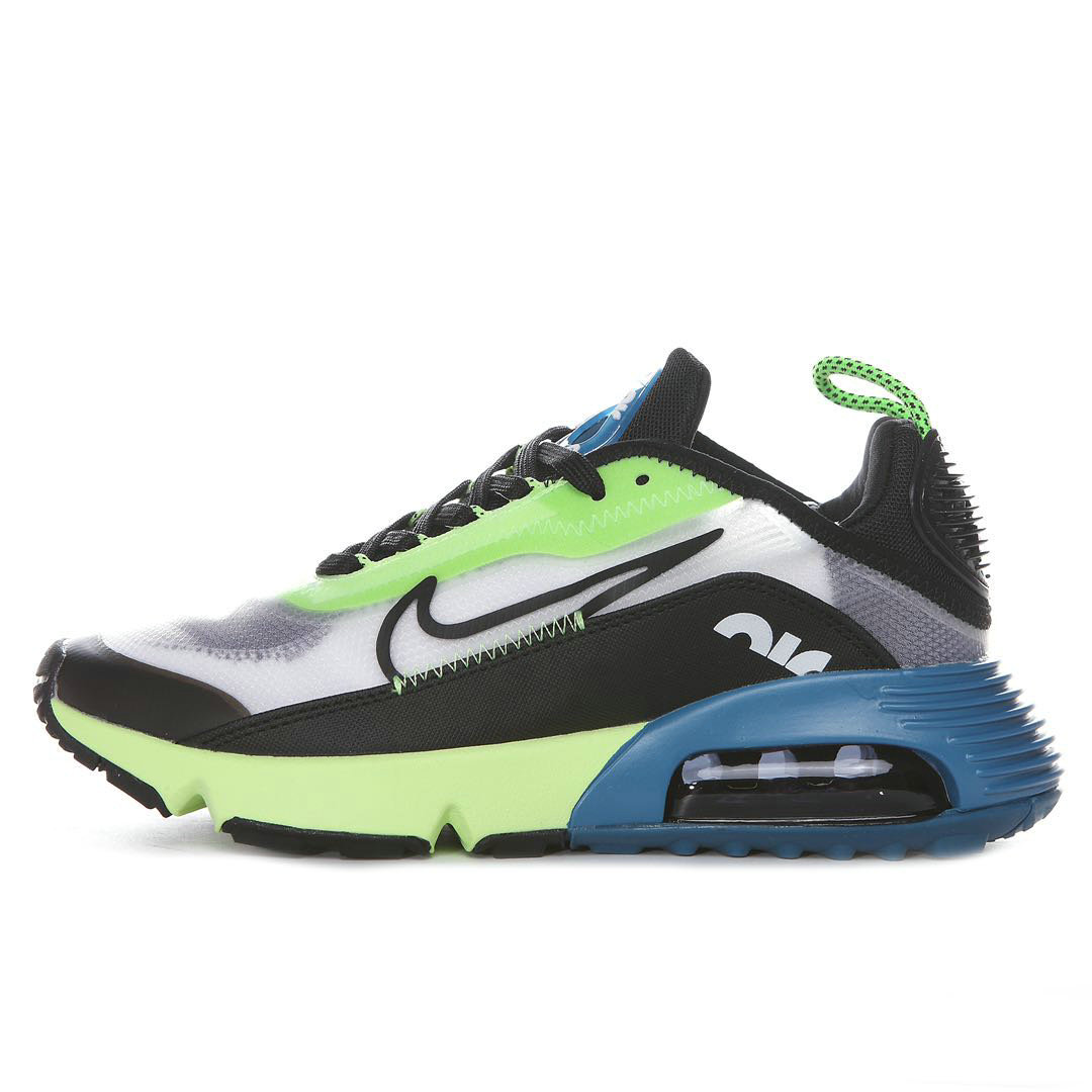 Where To Buy 2020 Mens Cheap Nike Air Max 2090 White Black-Volt-Blue Force BV9977-101 On VaporMaxRunning