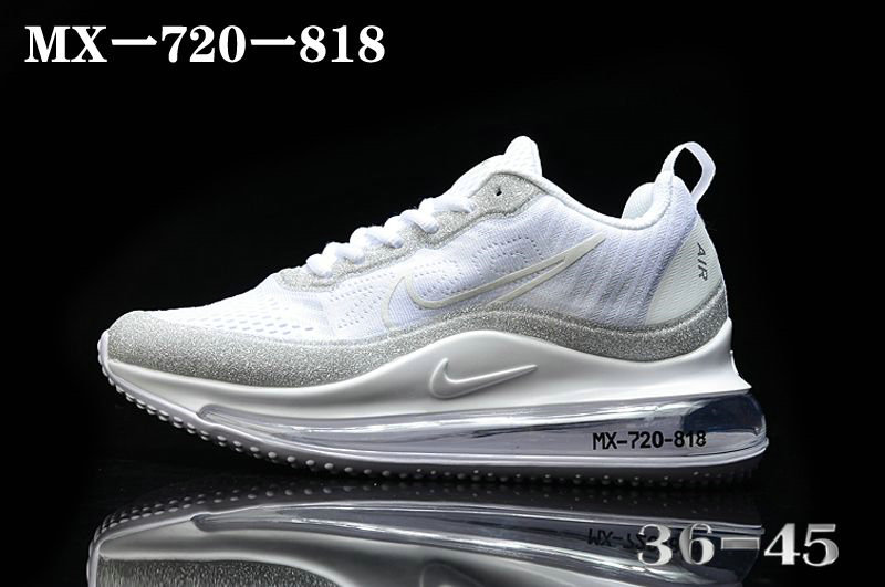 Where To Buy 2020 Mens Cheap Nike Air Max 720-818 White Metallic Silver-Vast Grey On VaporMaxRunning