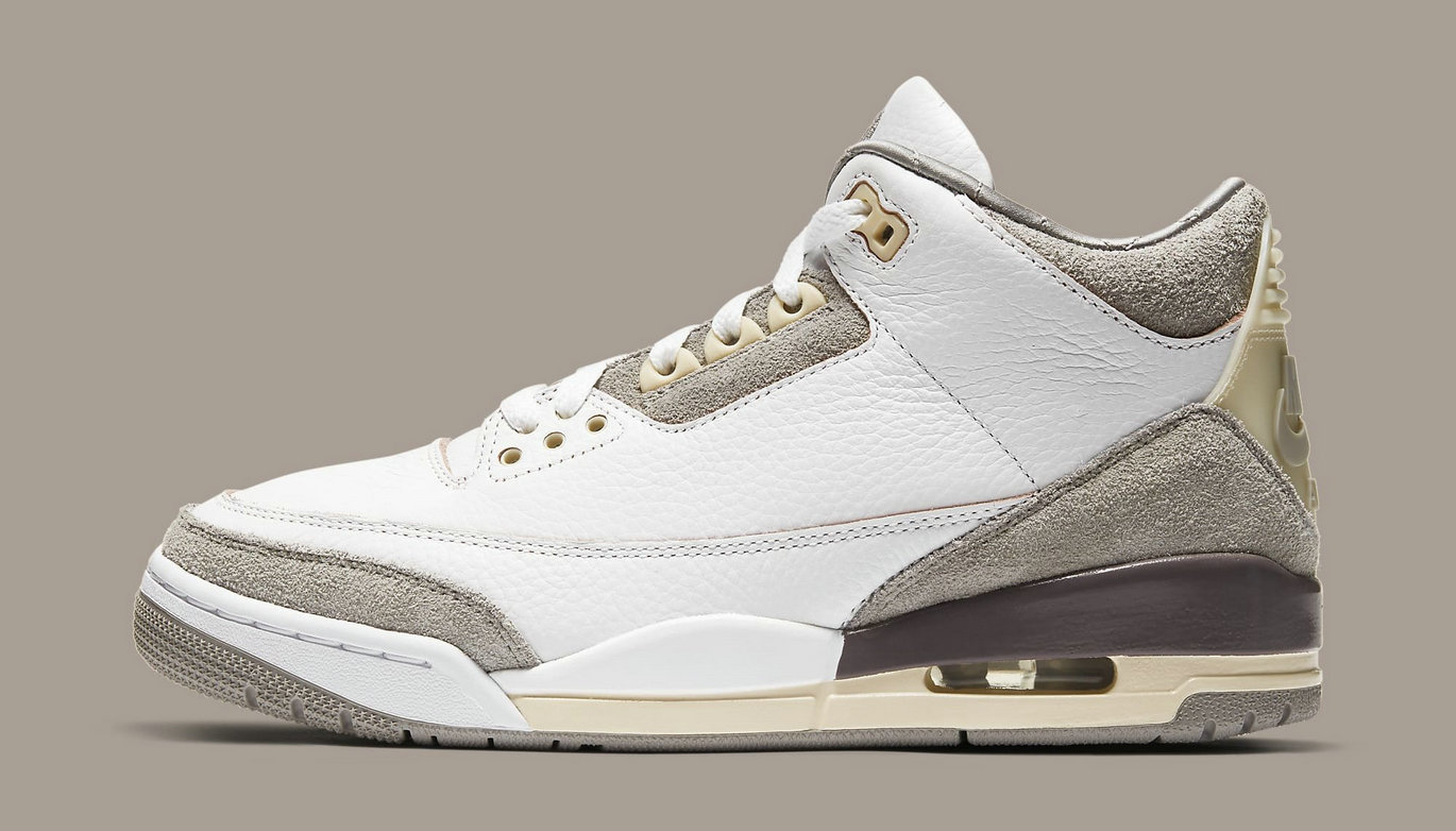 Where To Buy 2021 Cheap A Ma Maniere x Air Jordan 3 White Medium Grey-Violet Ore DH3434-110