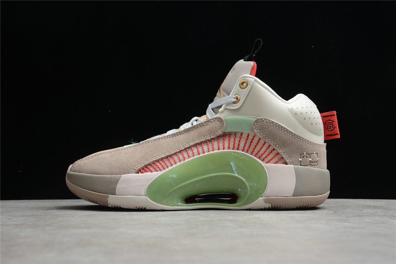 Where To Buy 2021 Cheap Womens Clot x Air Jordan 35 Sepia Stone Metallic Gold Pierre Sepia Or Metallique DD9322-200