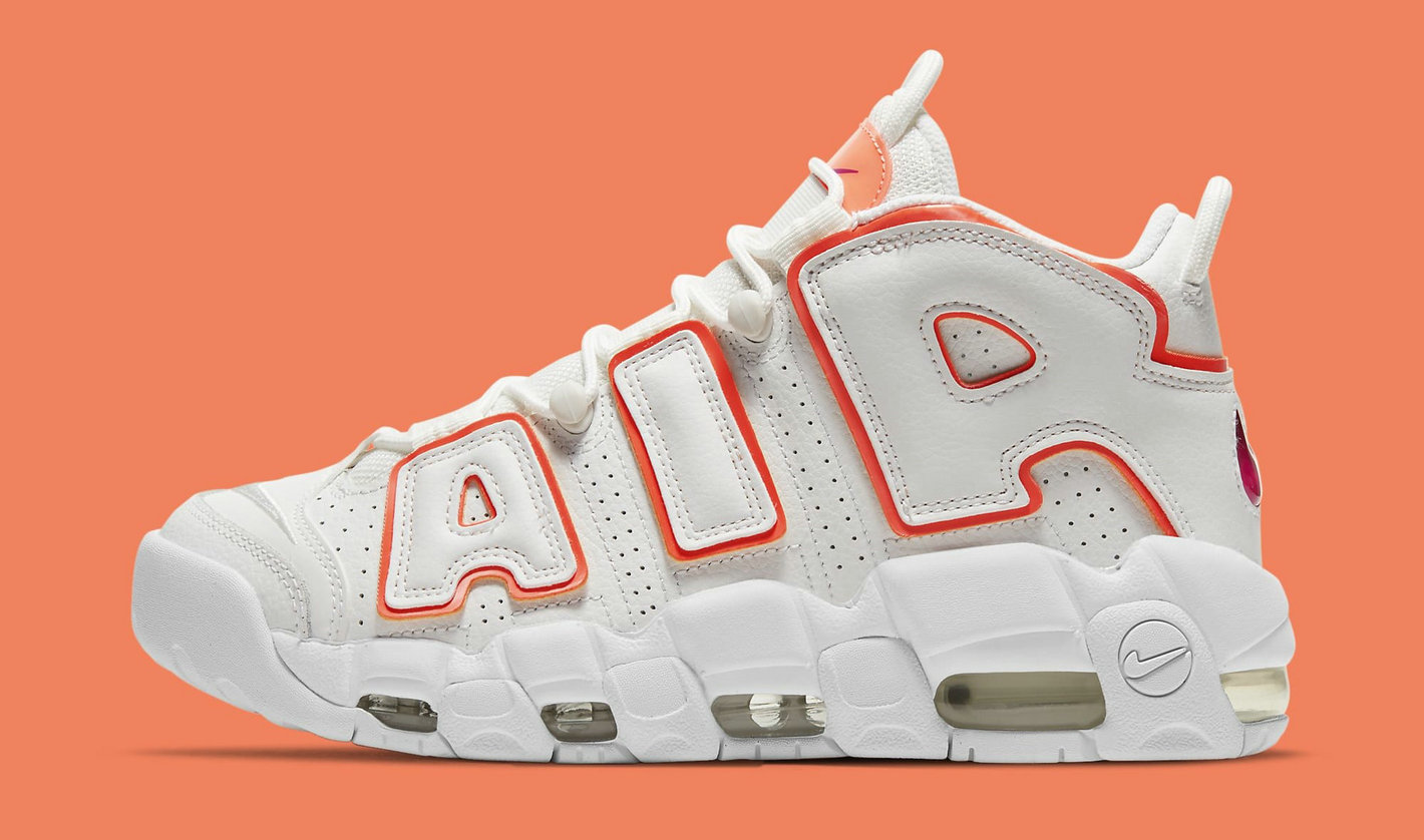 Where To Buy 2021 Cheap Womens Nike Air More Uptempo Sunset DH4968-100