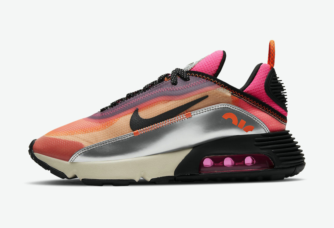 Where To Buy 2021 Cheapest 3M Nike Air Max 2090 Orange Pink CW8611-800 On VaporMaxRunning