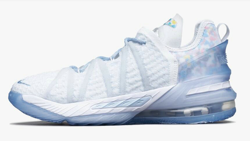 Where To Buy 2021 Cheapest Nike LeBron 18 Play for the Future Blue Tint Clear-White CW3156-400 On VaporMaxRunning