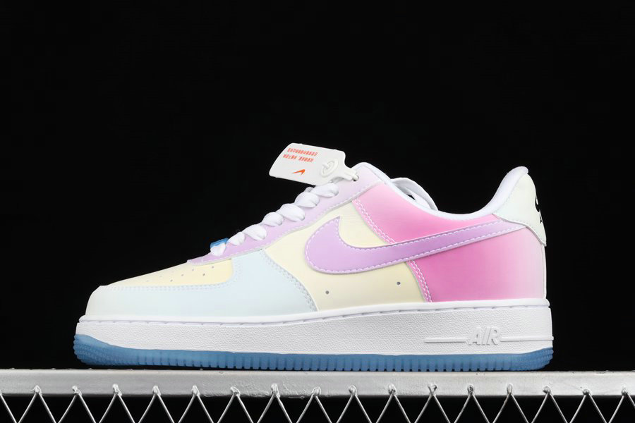 Where To Buy 2022 Cheap Nike Air Force 1 07 LX UV Reactive Changes Colors DA8301-100 On VaporMaxRunning
