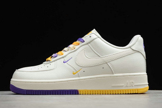 Where To Buy 2022 Cheap Nike Air Force 1 07 Low SU19 AF1 White Purple Yellow CT1989-106 On VaporMaxRunning