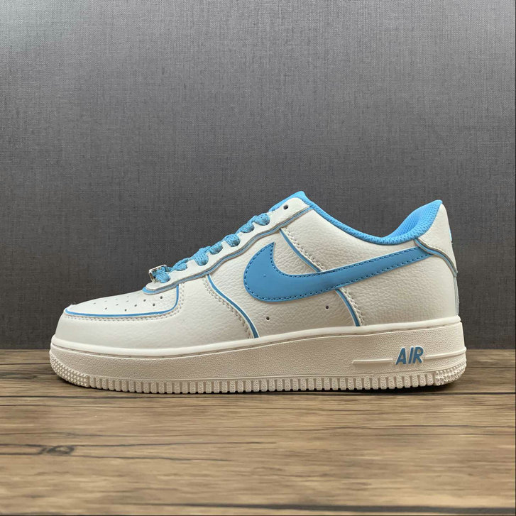 Where To Buy 2022 Cheap Nike Air Force 1 07 Low Su19 Blue White Metallic Sliver UH8958-066 On VaporMaxRunning