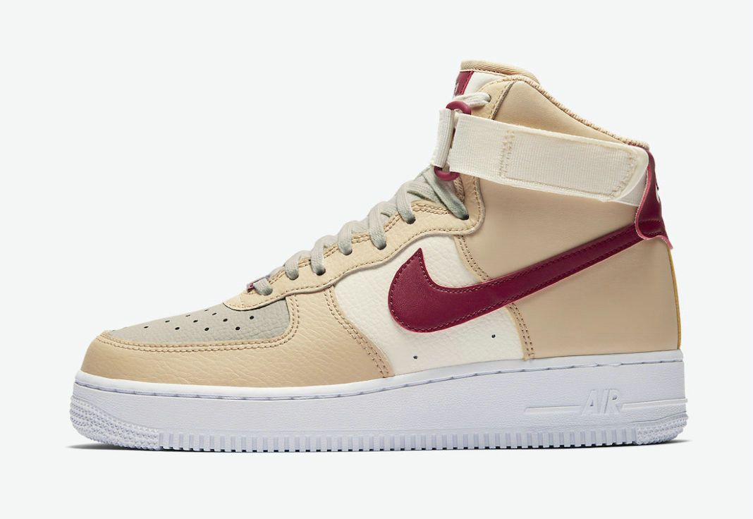 Where To Buy 2022 Cheap Nike Air Force 1 High White Onyx Noble Red-Pale Ivory-White 334031-200 On VaporMaxRunning
