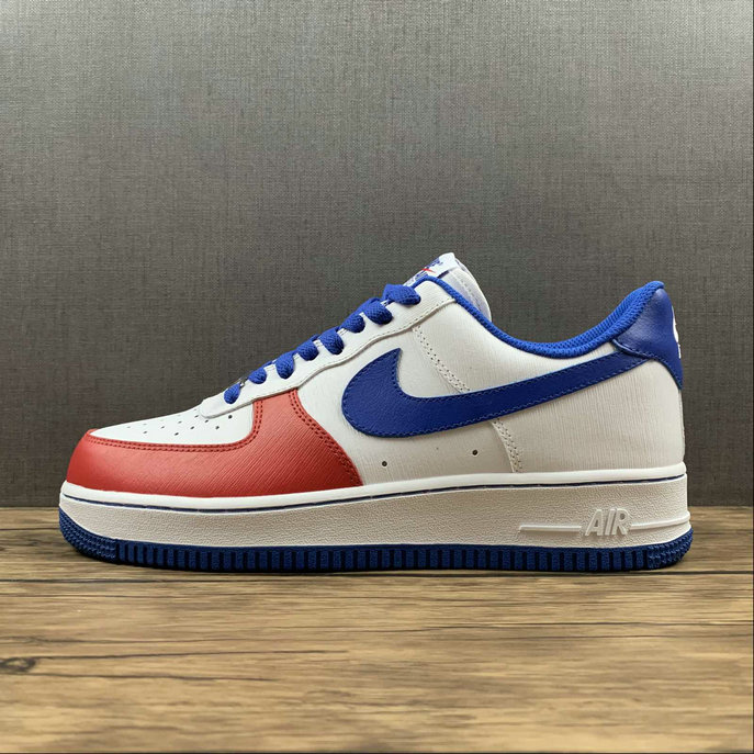 Where To Buy 2022 Cheap Nike Air Force 1 Low Nike By Customer White Blue Red CT7875-164 On VaporMaxRunning