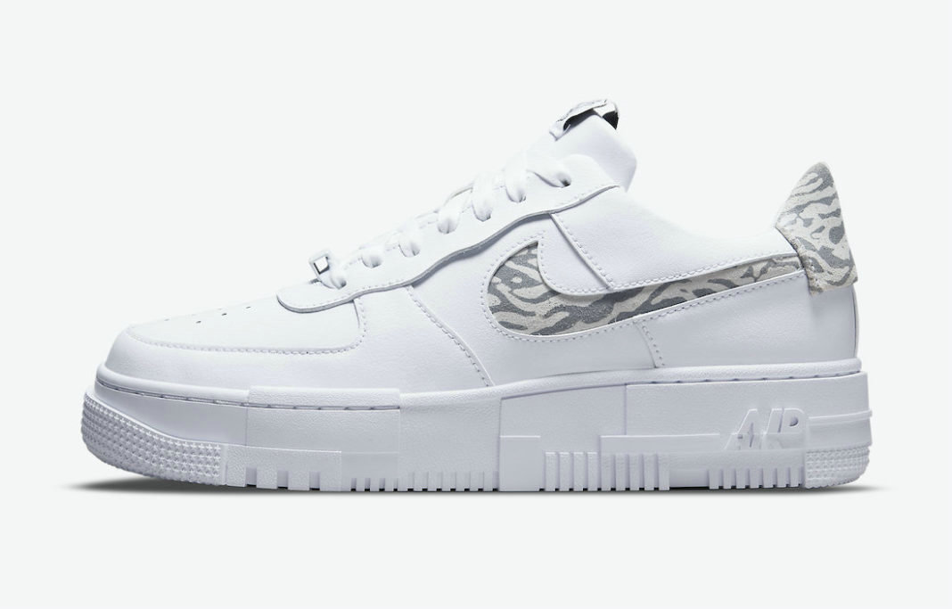 Where To Buy 2022 Cheap Nike Air Force 1 Pixel Zebra White Particle Grey-Summit White DH9632-100 On VaporMaxRunning