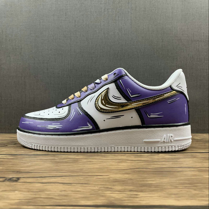 Where To Buy 2022 Cheap Nike Air Force 1 Purple Gold White Violet Or Blanc CW2288-216 On VaporMaxRunning