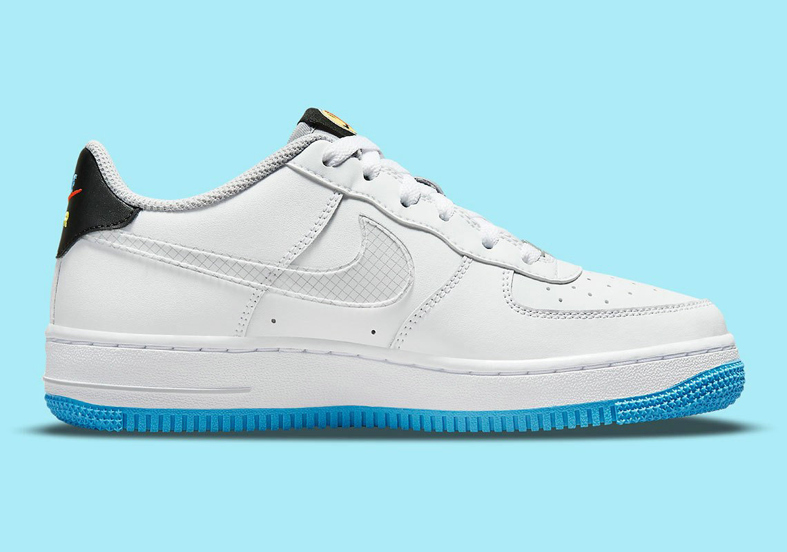 Where To Buy 2022 Cheap Nike Air Force 1 Sticker White Wolf Grey Black Multi-Color DM8088-100 On VaporMaxRunning