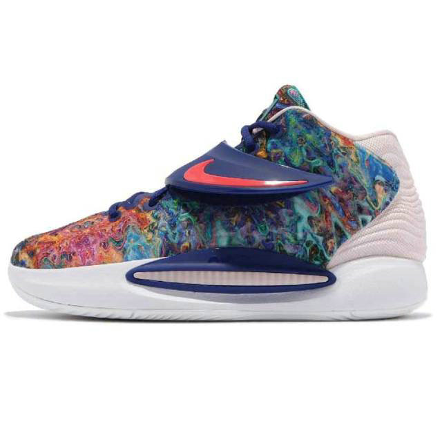 Where To Buy 2022 Cheap Nike KD 14 EP Kevin Durant Deep Royal Blue Pale Coral CZ0170 On VaporMaxRunning