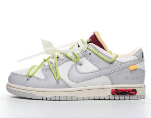 Where To Buy 2022 Cheap Off-White x Nike Dunk Low 04 of 50 OW Grey Green White DM1602-106 On VaporMaxRunning