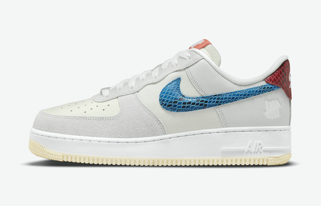 Where To Buy 2022 Cheap Undefeated x Nike Air Force 1 5 On It Grey Fog Imperial Blue DM8461-001 On VaporMaxRunning