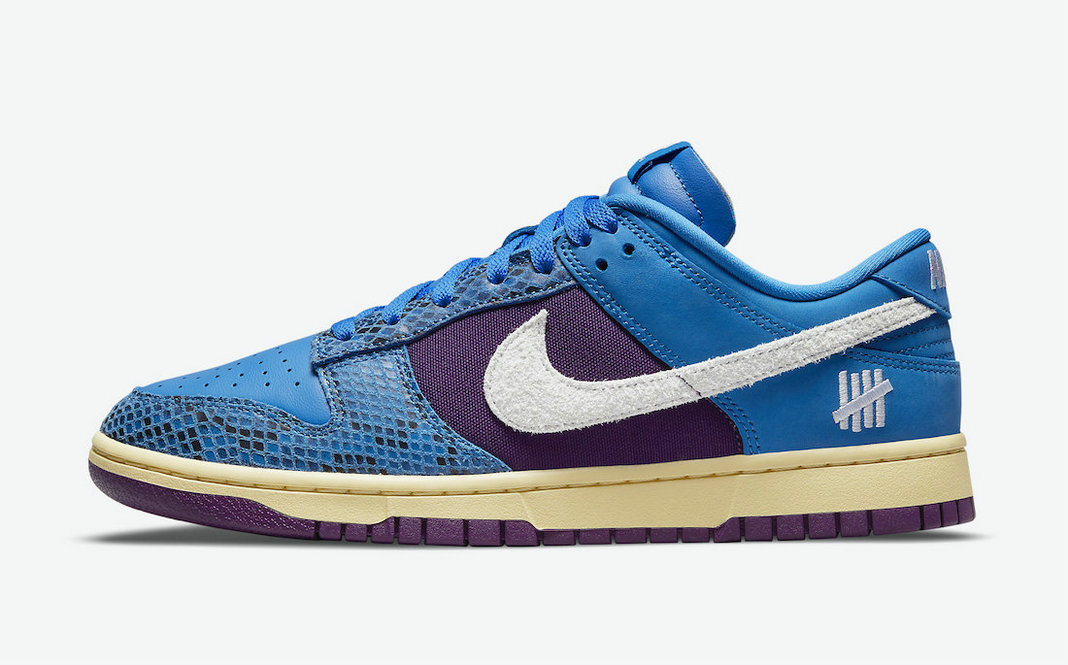 Where To Buy 2022 Cheap Undefeated x Nike Dunk Low 5 On It Signal Blue White-Night Purple DH6508-400 On VaporMaxRunning