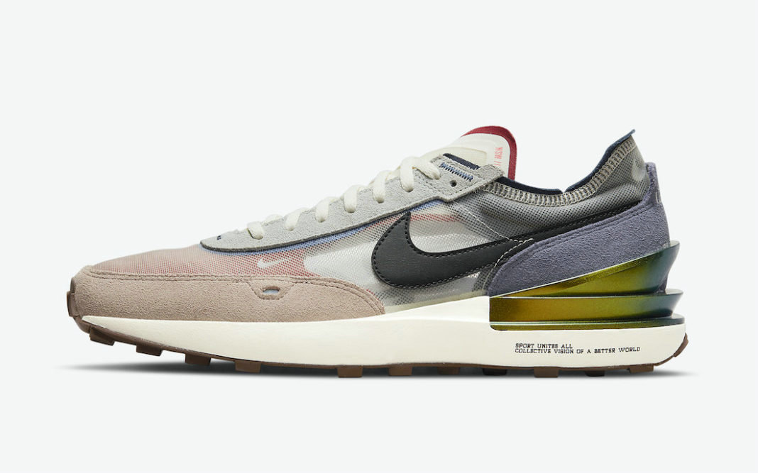 Where To Buy 2022 Cheap Womens Nike Waffle One The Great Unity DM5446-701 On VaporMaxRunning