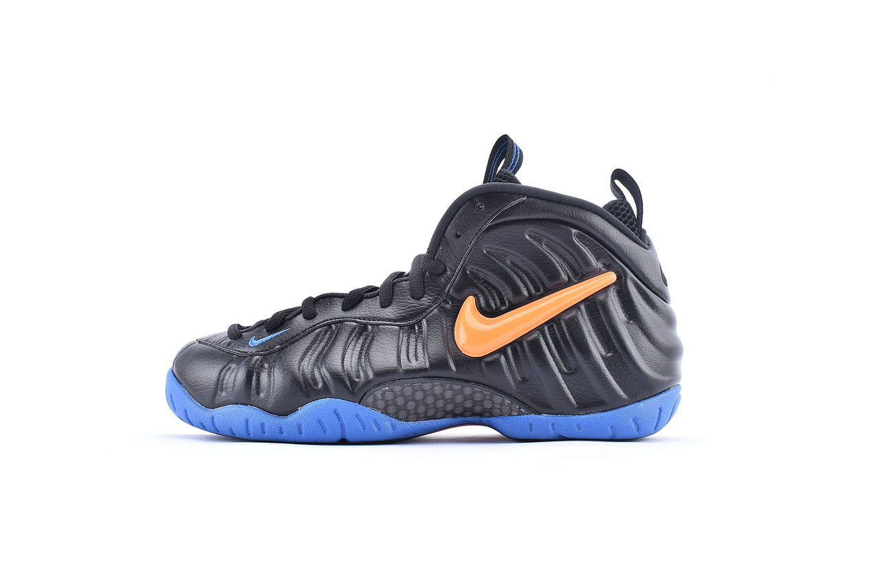 Where To Buy Cheap Nike Air Foamposite Pro Black Battle Blue-Total Orange 624041-010 On VaporMaxRunning