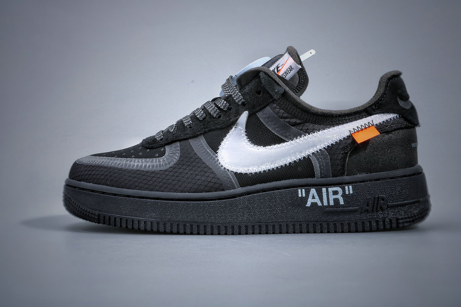 Where To Buy Cheap Nike Air Force 1 Low Off-White Black Cone White AO4606-001 On VaporMaxRunning