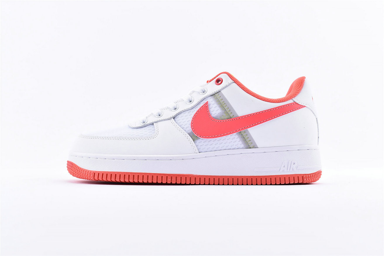 Where To Buy Cheap Nike Air Force 1 Low White Bright Crimson-Barely Volt CI0060-102 On VaporMaxRunning