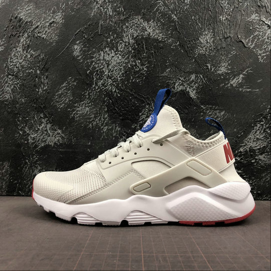Where To Buy Cheap Nike Air Huarache Run Ultra White Grey Royal Blue Red Blanc Gris Bleu Royal Rouge 847568-060 On VaporMaxRunning