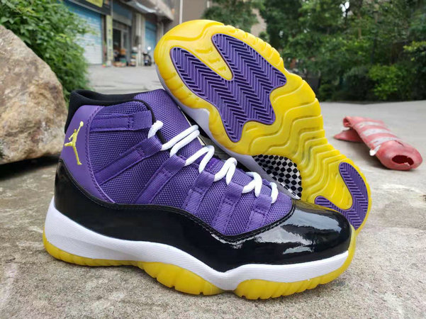 Where To Buy Cheap Nike Air Jordan 11 Purple Black White Yellow On VaporMaxRunning
