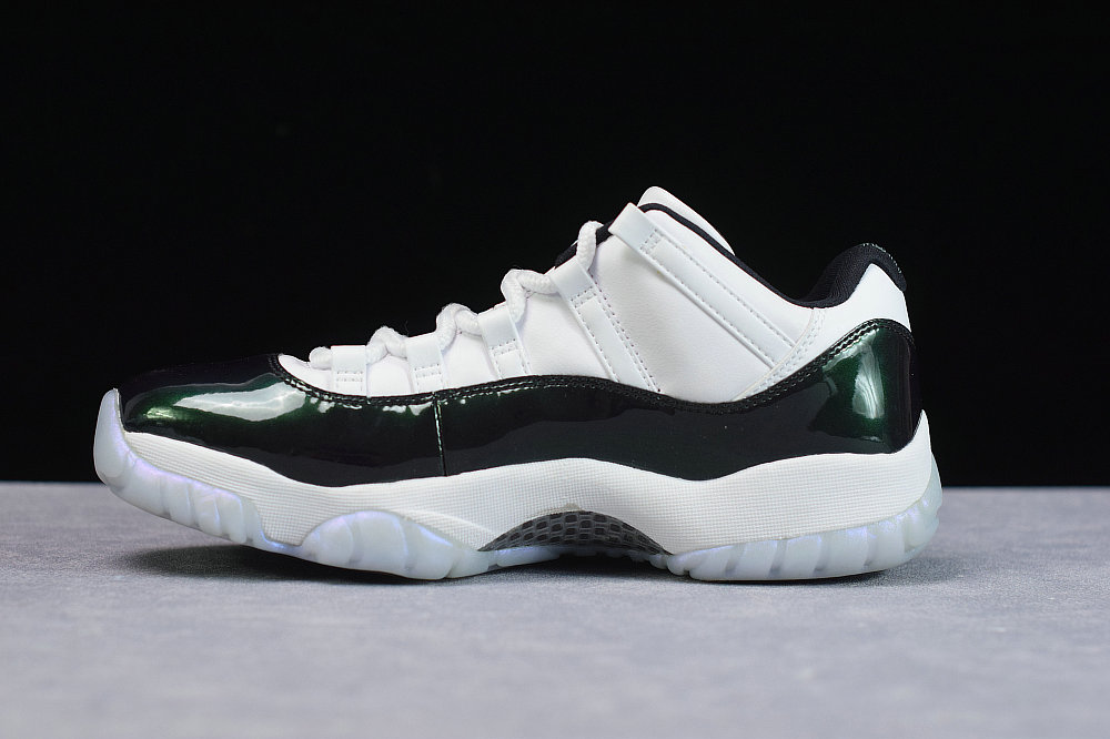 Where To Buy Cheap Nike Air Jordan 11 Retro Low Emerald Rise White Black 528895 145 On VaporMaxRunning