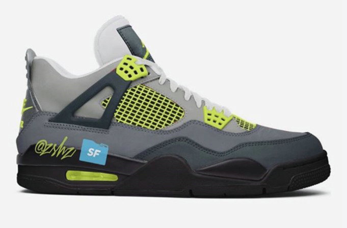 Where To Buy Cheap Nike Air Jordan 4 Neon Inspired Cool Grey Volt-Wolf Grey-Anthracite On VaporMaxRunning