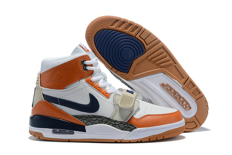 Where To Buy Cheap Nike Air Jordan Legacy 312 NRG Medicine Ball White Midnight Navy Ginger AQ4160-140 On VaporMaxRunning