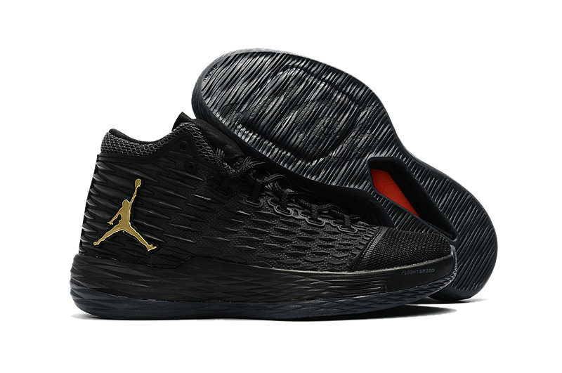 Where To Buy Cheap Nike Air Jordan Melo M13 Black Metallic Gold-Anthracite 881562-004 On VaporMaxRunning