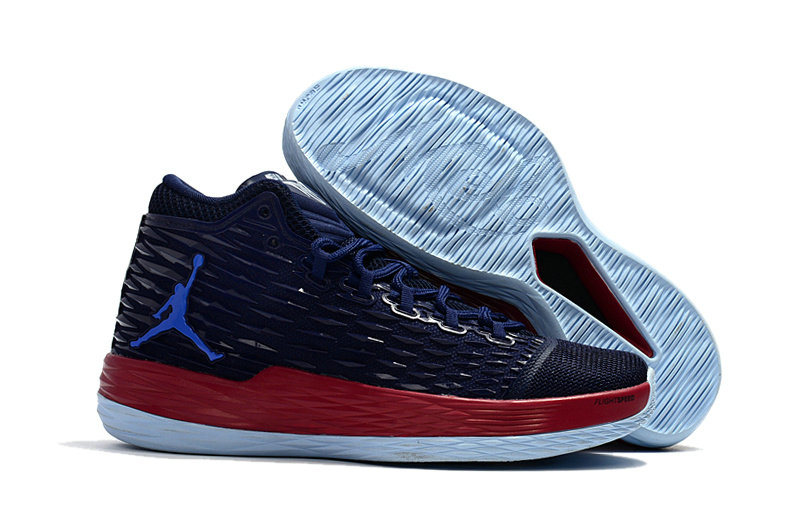 Where To Buy Cheap Nike Air Jordan Melo M13 Knicks Midnight Navy Gym Red-Blue On VaporMaxRunning