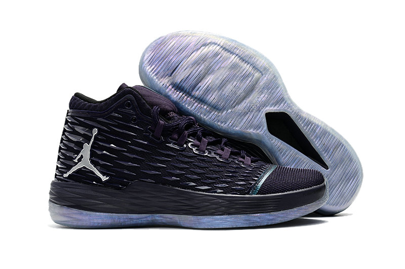 Where To Buy Cheap Nike Air Jordan Melo M13 Purple Dynasty Metallic Silver On VaporMaxRunning