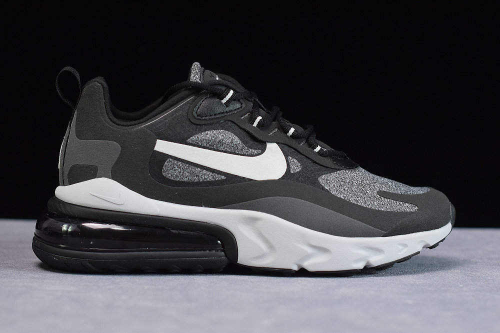 Where To Buy Cheap Nike Air Max 270 React Bauhaus Black Vast Grey OFF Noir Gris Infini AO4971-001 On VaporMaxRunning
